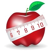 Graphic of Apple with tape measure