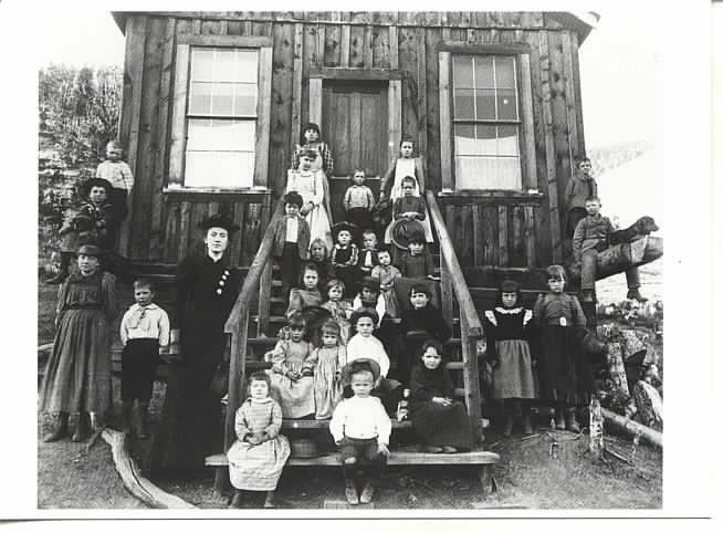 Photograph of a frontier school