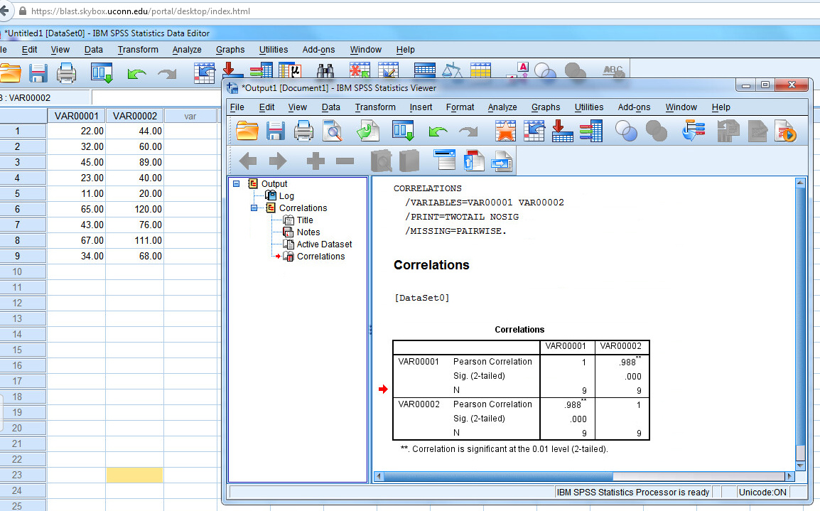 Instructions for Using SPSS to Calculate Pearson's r | Educational